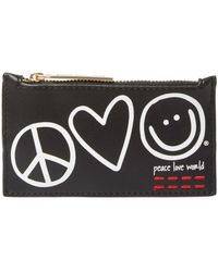Peace Love World - Symbols Top Zip Card Case With Key Chain - Lyst