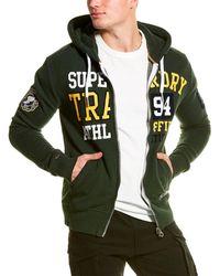 Superdry Split Track Zip Hoodie - Green