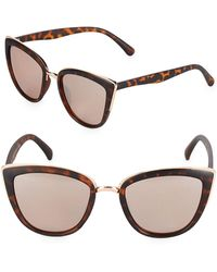 Fantaseyes - Graphic 51mm Cat Eye Sunglasses - Lyst