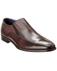Gordon Rush Venetian Leather Loafer - Brown