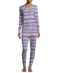 Jane And Bleecker - Brushed Jersey Onsie - Lyst