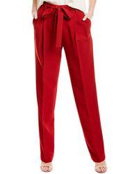 Prabal Gurung Simone Silk-lined Trouser - Red