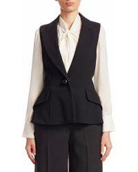 Carolina Herrera - Peak Lapel Suit Vest - Lyst