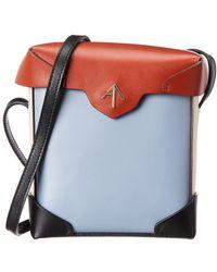 MANU Atelier Pristine Mini Leather Crossbody - Brown