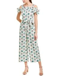 Rebecca Taylor Carnation Linen-blend Jumpsuit - Green