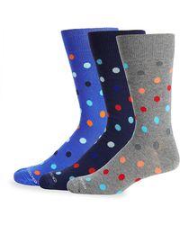 Unsimply Stitched - Three-pack Polka Dot Mid-calf Socks - Lyst