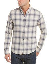 Billy Reid Kirby Slim Fit Woven Shirt - Gray