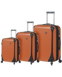 Mia Toro Italy Fibre Di Carbonio Largo 3pc Hardside Spinner Set - Orange