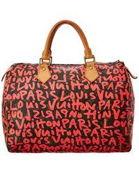 Louis Vuitton Stephen Sprouse Red Graffiti Monogram Canvas Speedy 30