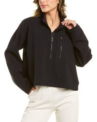 James Perse Seamed Sweat Top - Black