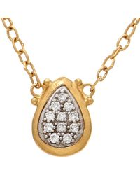 a0ff14f690b06 Gurhan Celestial 24k Pave Diamond Disc Pendant Necklace in Yellow - Lyst