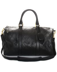 Chanel Black Quilted Leather Medium Boston Satchel