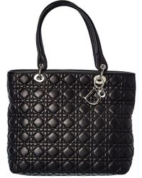 Dior Black Lambskin Leather Large Lady