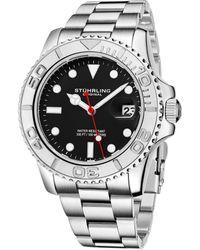 Stuhrling Original Men's Aquadiver Watch - Metallic
