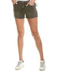 Hudson Jeans Gracie Fairman Mid-rise Cut Off Short - Black