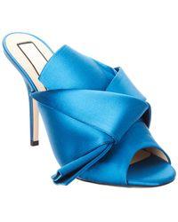N°21 N?21 Satin Bow Mule - Blue