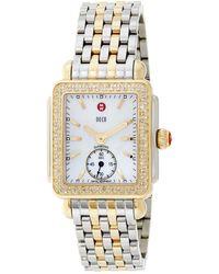 Michele Women's Deco Diamond Watch - Metallic