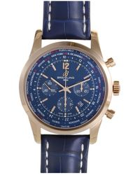 Breitling - Men's Leather Watch - Lyst