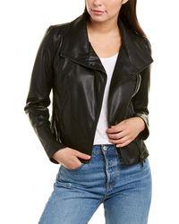 Bagatelle Collection Washed Envelope Collar Jacket - Black