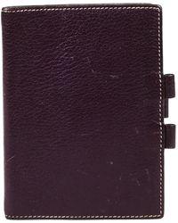 Hermès Purple Leather Vision Agenda Cover