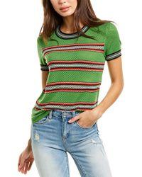 Rag & Bone Darcie Wool Crew Relaxed Fit Lightweight Sweater - Green