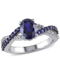 Rina Limor 10k 2.47 Ct. Tw. Diamond & Sapphire Ring - Blue