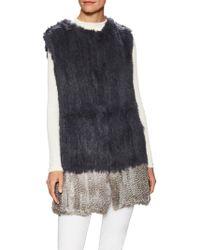 Love Token - Alexa Rabbit Fur Colorblock Vest - Lyst