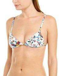 MILLY Cabana Elba Bikini Top - White