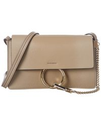 Chloé Faye Small Glossy Leather Shoulder Bag - Multicolour