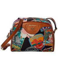 Ferragamo Travel Canvas & Leather Crossbody - Multicolor
