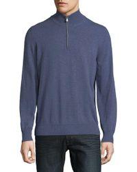 Brunello Cucinelli - Quarter-zip Cashmere Sweater - Lyst