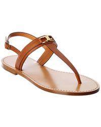 Celine Triomphe Leather Sandal - Brown