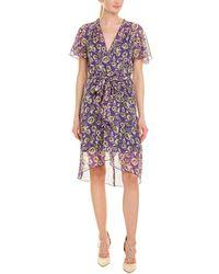 Anna Sui - Botanic Bouquet Silk A-line Dress - Lyst