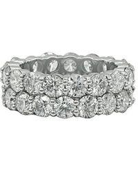Diana M. Jewels . Fine Jewellery 18k Rose Gold 23.55 Ct. Tw. Diamond Bangle - Metallic