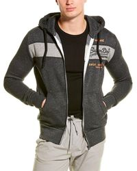 Superdry Sweatshirt Shop Magma Panel Zip Hoodie - Black