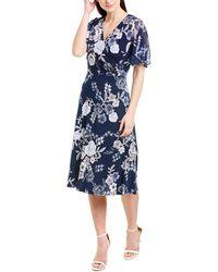 Sandra Darren A-line Dress - Blue