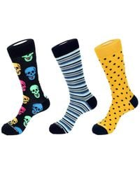 Unsimply Stitched Set Of 3 Sock - Blue