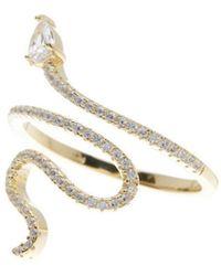 Adornia 14k Over Silver Crystal Ring - Metallic