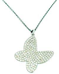 Arthur Marder Fine Jewelry Silver 1.35 Ct. Tw. Diamond Necklace - Metallic