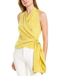 Lafayette 148 New York Elliana Blouse - Yellow