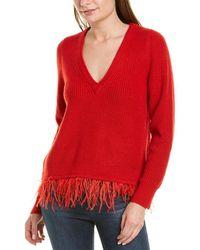 Saylor Juneau Wool-blend Sweater - Red