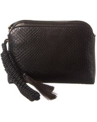 The Row Tasselled Python Wristlet - Black