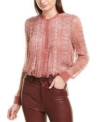 Joie Tassa Silk Top - Pink
