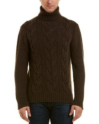Turnbull & Asser Cashmere Turtleneck Sweater - Brown