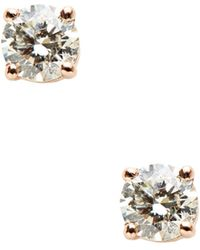 Nephora - 14k Rose Gold & 0.33 Total Ct. Diamond Stud Earrings - Lyst