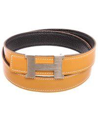 Hermès Reversible Constance Leather H Belt, Size 70 - Multicolour