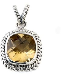 Samuel B. Silver 3.60 Ct. Tw. Citrine Enhancer - Metallic