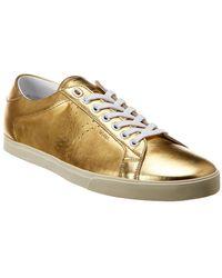 Céline Triomphe Leather Sneaker - Metallic