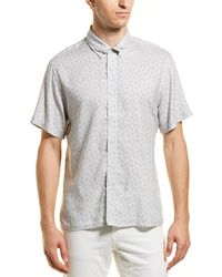 Billy Reid Murphy Slim Fit Woven Shirt - Blue