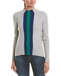 Madison Marcus Central Park West Barbara Stripe Sweater - Gray